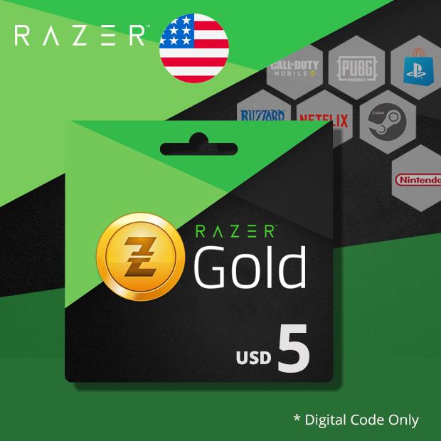 Razer Gold USD 5 (US)