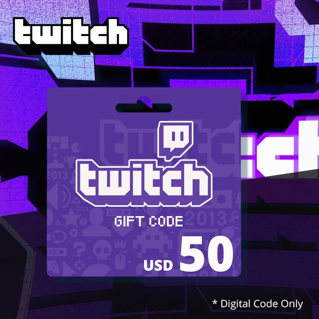 Twitch Gift Code USD 50 (Global)