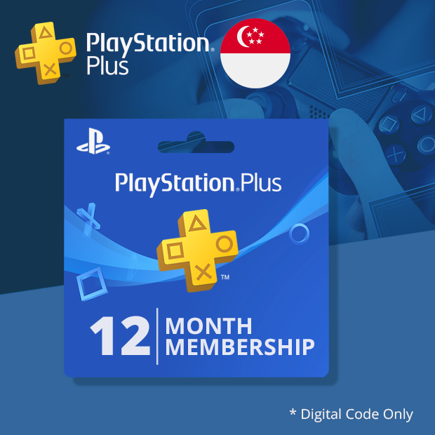 Playstation Plus 12-Months (Singapore)