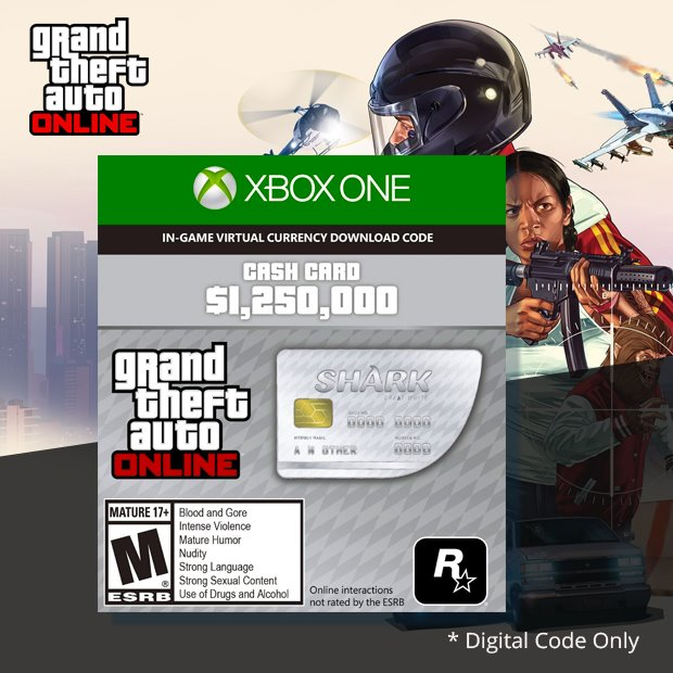 Grand Theft Auto V Great White Shark Cash Card (Global)