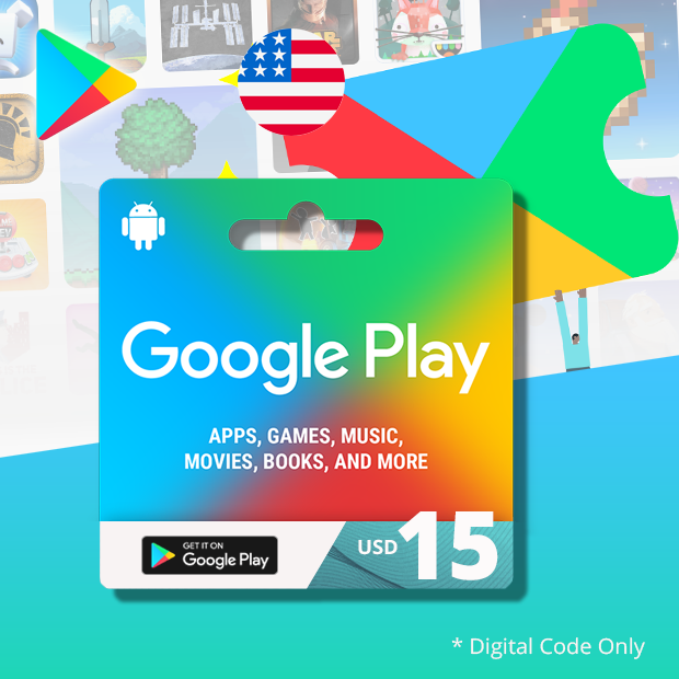 Google Play Wallet USD 15 (US)