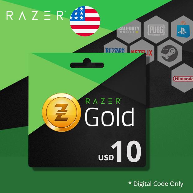 Razer Gold USD 10 (US)