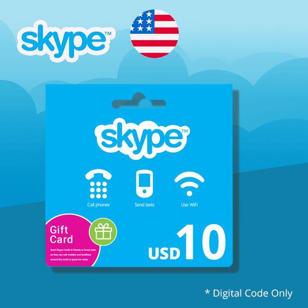 Skype Credit USD 10 (US)