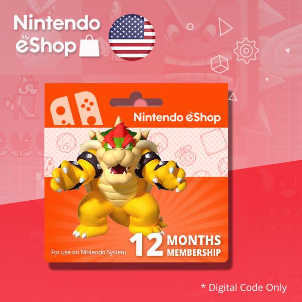 Nintendo Switch Online Individual Membership 12-Months (US)