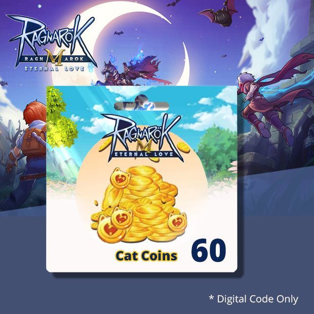 Ragnarok Mobile Big Cat Coins 60 (SEA)