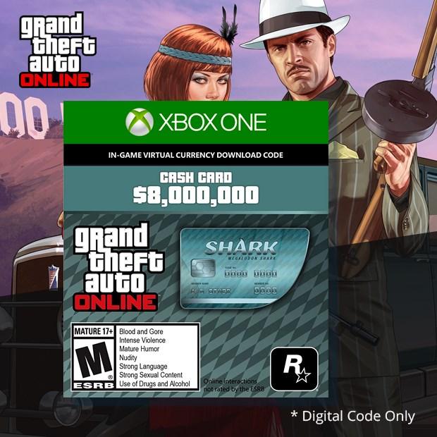Grand Theft Auto V Megalodon Shark Cash Card (Global)
