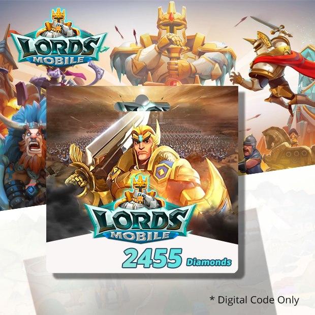Lords Mobile 2455 Diamonds (SEA)