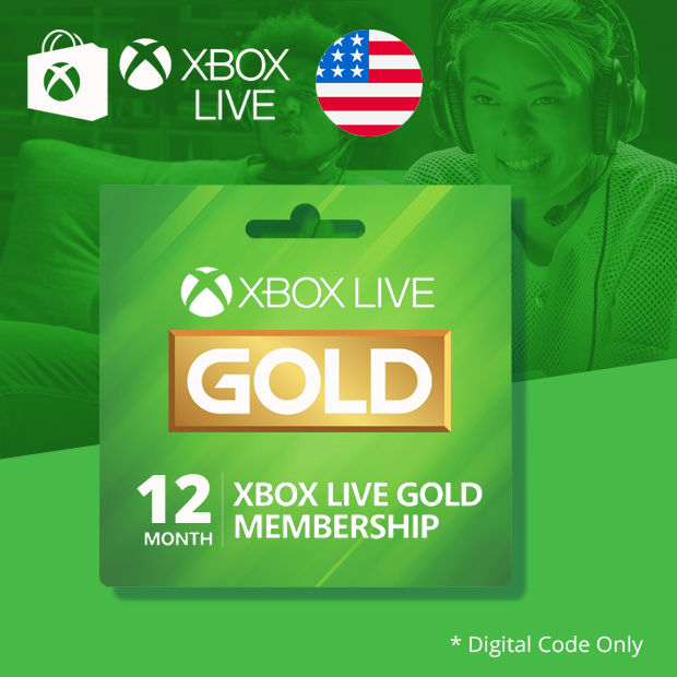 Xbox Live Gold 12-Months (US)