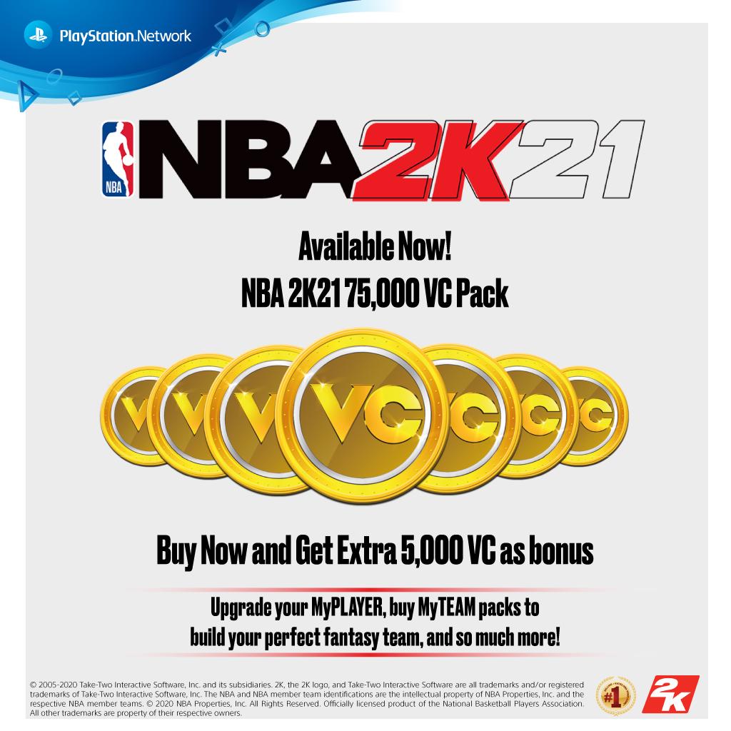 PS4 NBA 2K21 VC 80,000 (Indonesia)
