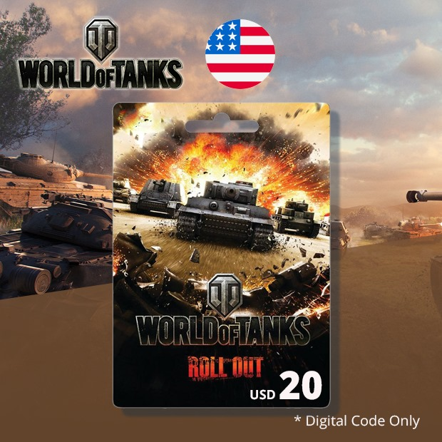 World of Tanks Prepaid Code USD 20 (US)