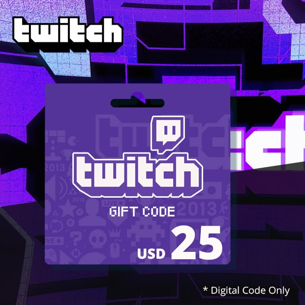 Twitch Gift Code USD 25 (Global)
