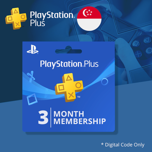 Playstation Plus 3-Months (Singapore)