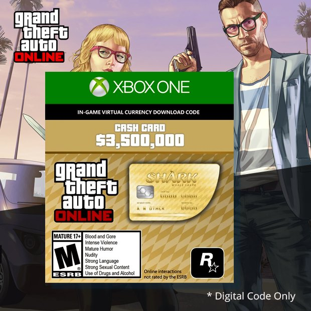 Grand Theft Auto V Whale Shark Cash Card (Global)
