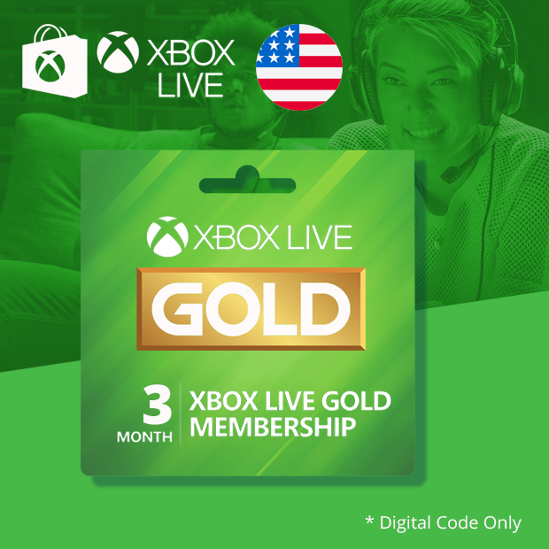 Xbox Live Gold 3-Months (US)