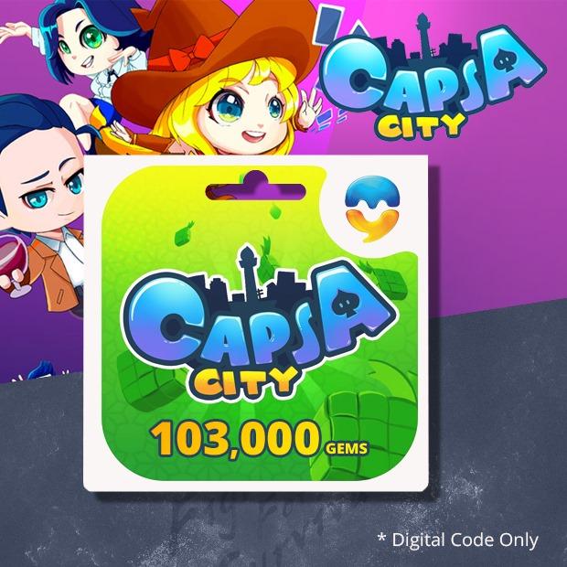 Capsa City 103,000 Gems (SEA)