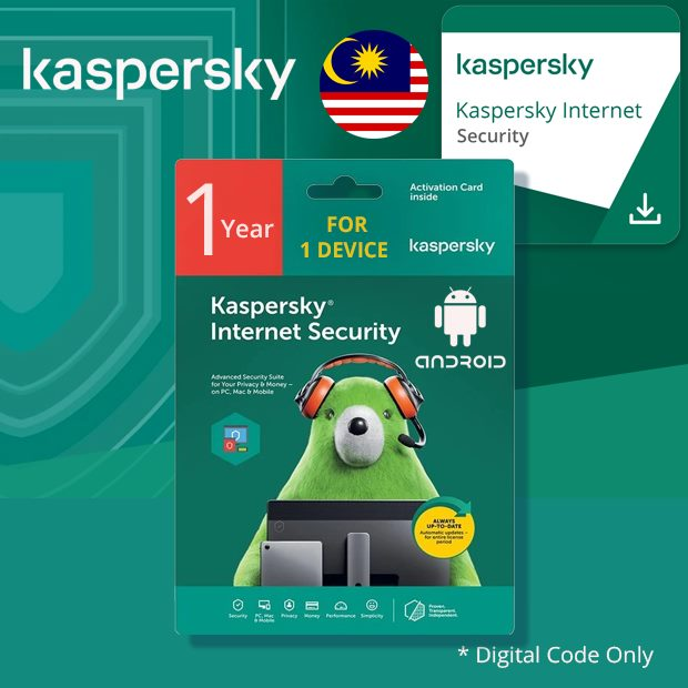 Kaspersky Internet Security for Android 1 Year 1 Device (Malaysia)