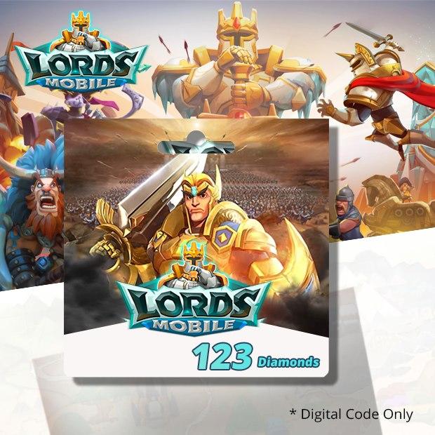 Lords Mobile 123 Diamonds (SEA)