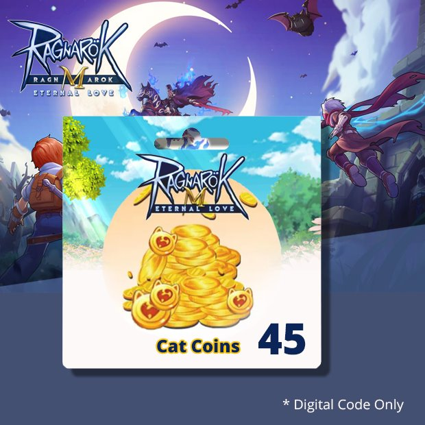 Ragnarok Mobile Big Cat Coins 45 (SEA)