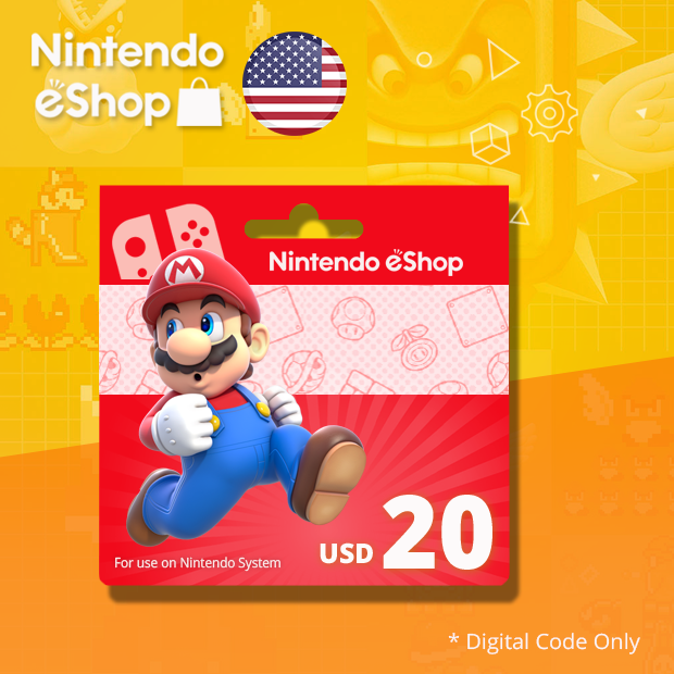 Nintendo eShop Wallet USD 20 (US)