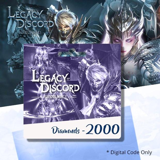 Legacy of Discord Furious Wings 2000 Diamonds (SEA)