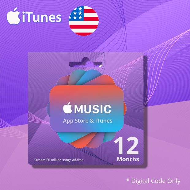 iTunes Apple Music Membership 12-Months (US)