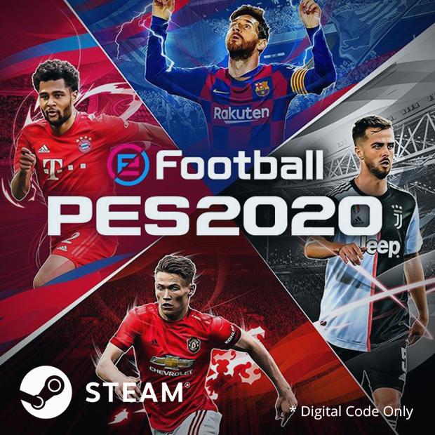 eFootball PES 2020 Steam Code (English/Chinese) 世界足球競賽 2020