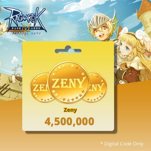 Ragnarok Mobile 4,500,000 Zeny (SEA)