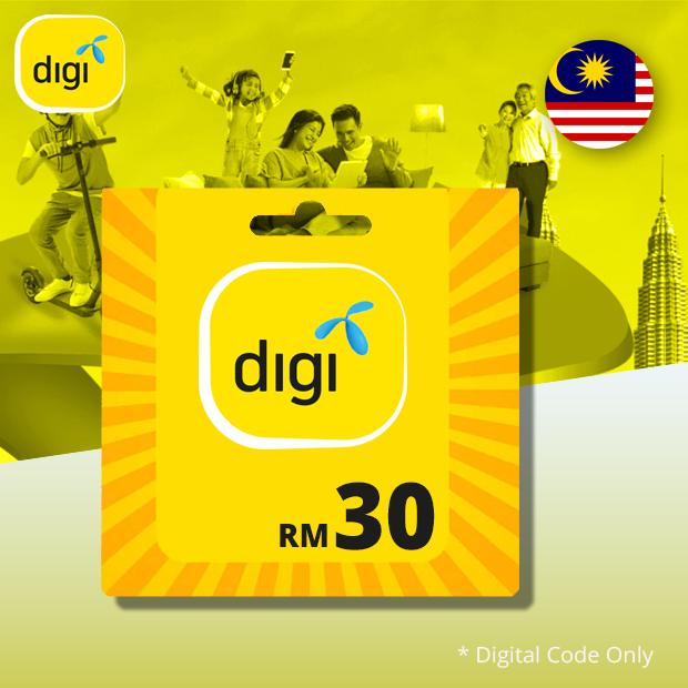 Digi Prepaid MYR 30 (Malaysia)