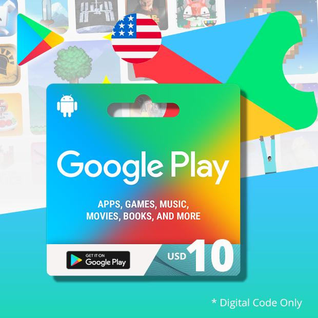 Google Play Wallet USD 10 (US)